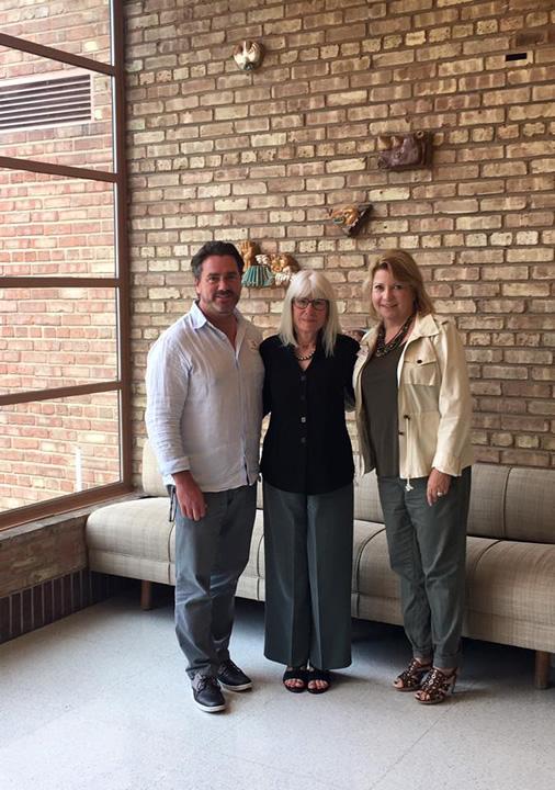 Joe Kunkel with Susan Saarinen and Randi Merel