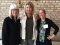Susan Saarinen, guest speaker, with Randi Merel and Joan Gand from Chicago Bauhaus and Beyond