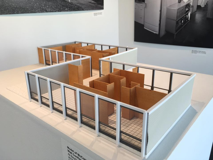 Model of the McCormick House by Mies van der Rohe, which is attached to the museum and housed the Playboy Architecture exhibit