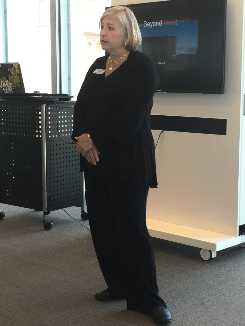 Bank president Amy Lemar talks about the bank and the renovation process