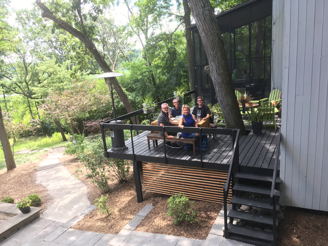 CBB members enjoy one of the many beautiful outdoor spaces