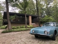 The owners' 1963 Studebaker Avanti, parked in front of their gorgeous - and very original - 1965 MCM home in Lake Forest