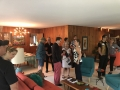 Fun mingling at the beautiful Lake Forest MCM home of CBB members