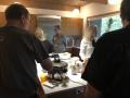 Fun mingling at the beautiful Lake Forest MCM home of CBB members