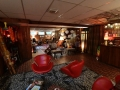 Looking from the tiki lounge to the music room