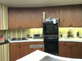 A panorama of Bob's round kitchen