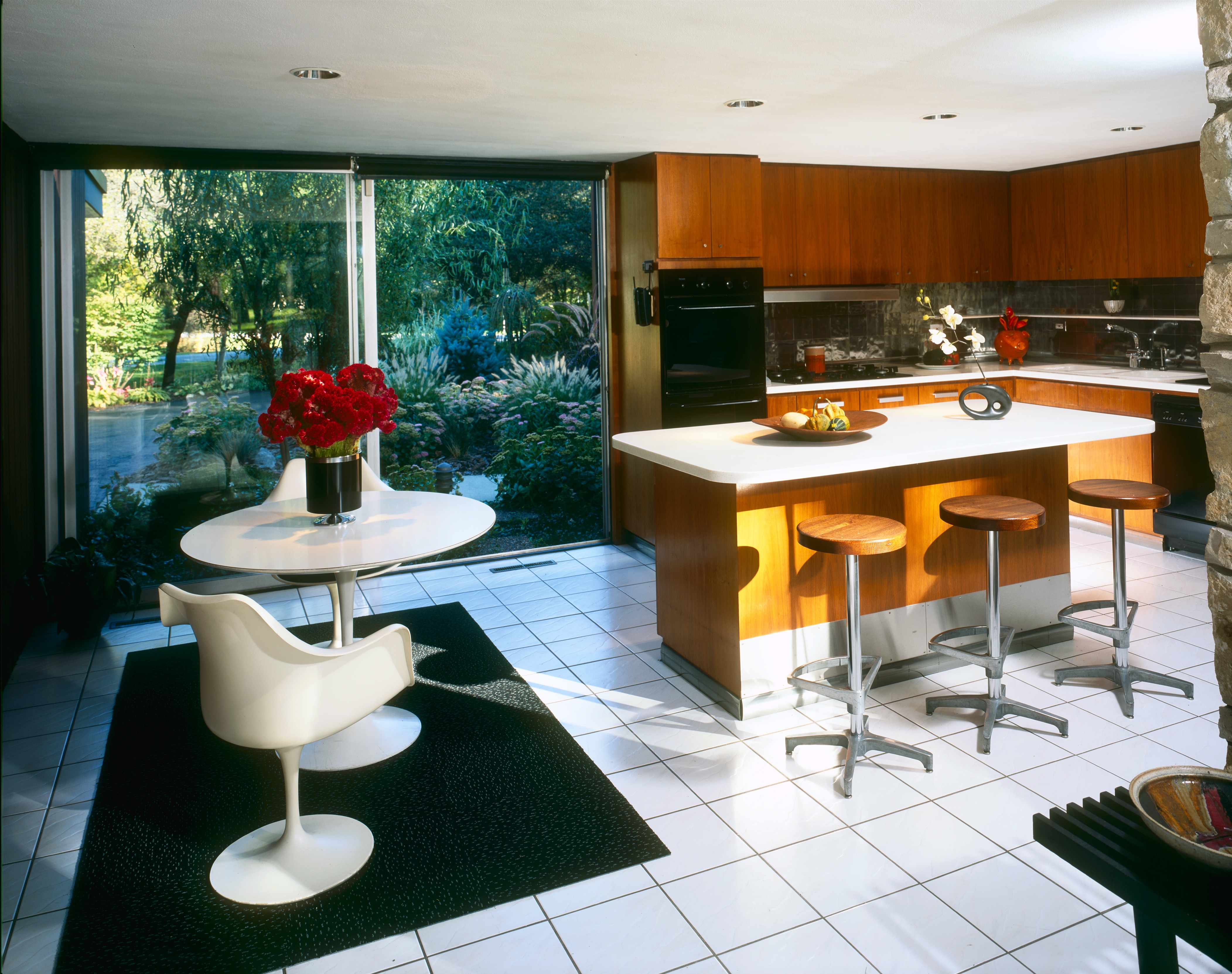Choose No Hardware Or Simple Mid Century Style Round Knobs For New Cabinets.  Study Photos Online Of Kitchens In The Era Of Your House To Get Ideas.